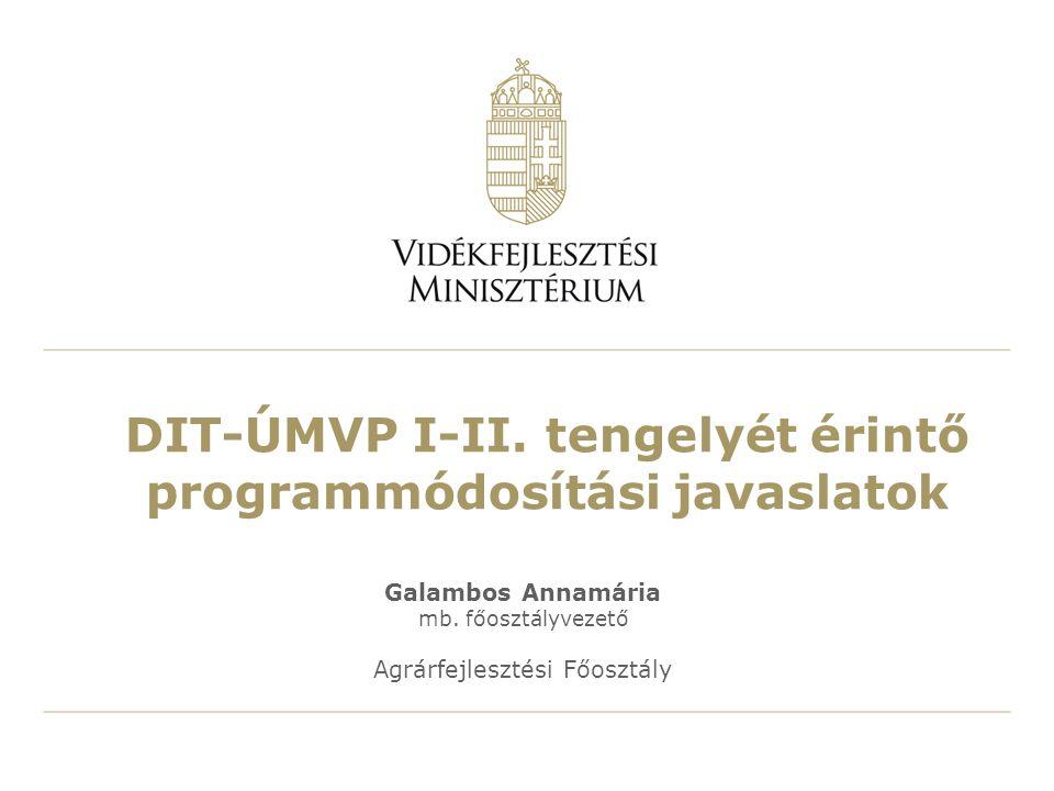 DIT-ÚMVP I-II.tengelyét érintő programmódosítási javaslatok Galambos Annamária mb.