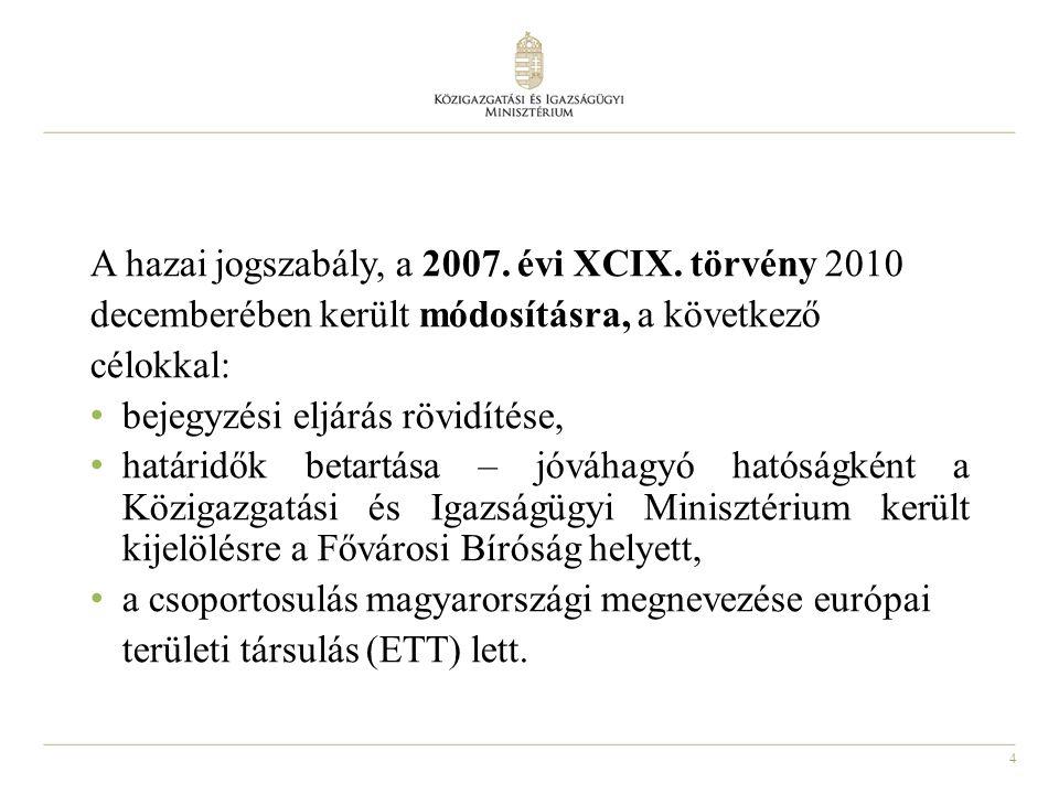 4 A hazai jogszabály, a 2007. évi XCIX.