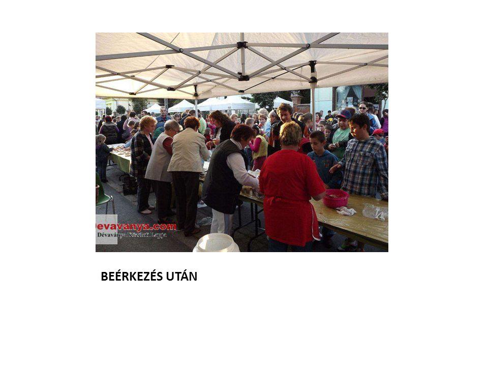 BEÉRKEZÉS UTÁN