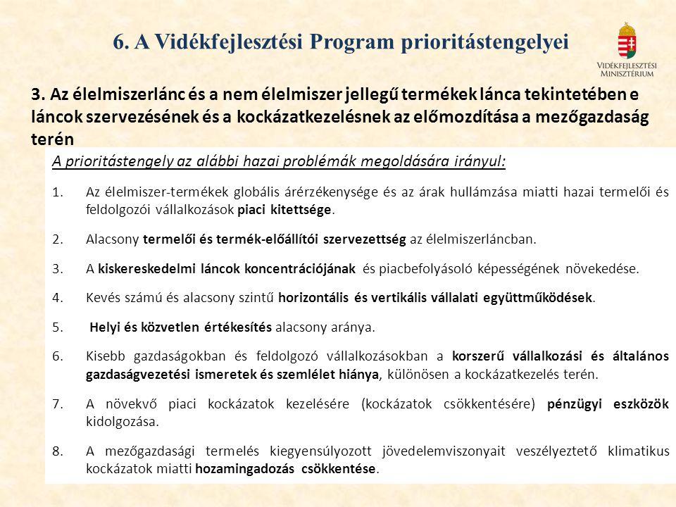 6.A Vidékfejlesztési Program prioritástengelyei 3.