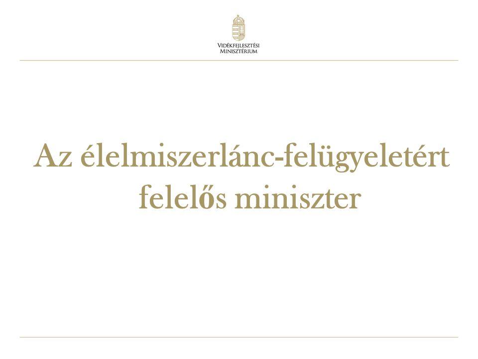 6 Az élelmiszerlánc-felügyeletért felel ő s miniszter