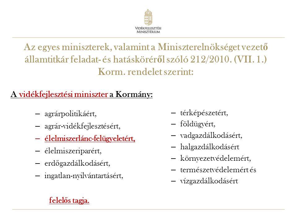 8 Miniszter feladatai önállóan gyakorolt feladatok: - pl.