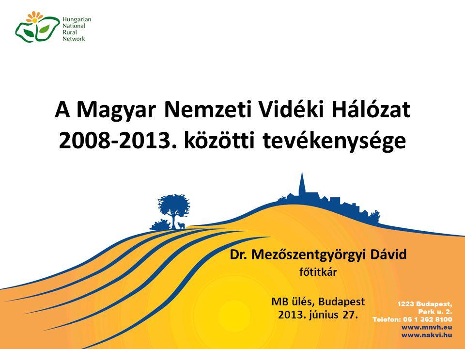 A Magyar Nemzeti Vidéki Hálózat 2008-2013. közötti tevékenysége Dr.