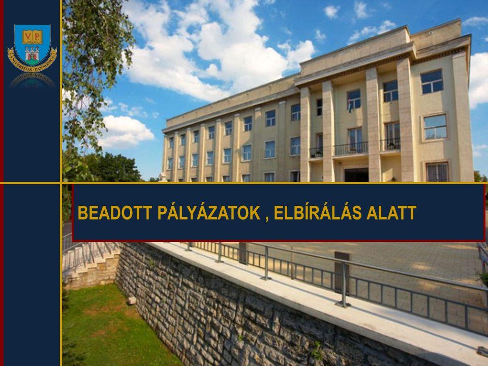 BEADOTT PÁLYÁZATOK, ELBÍRÁLÁS ALATT