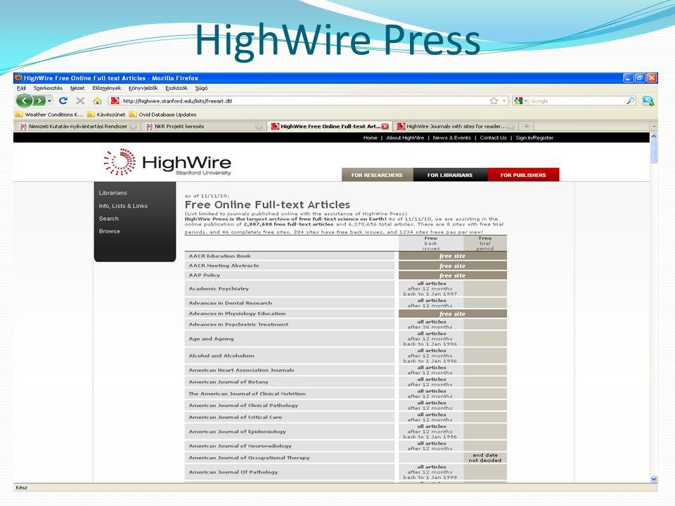 HighWire Press