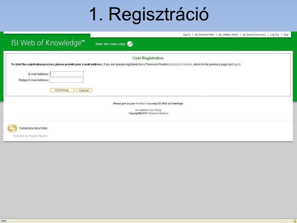 1. Regisztráció