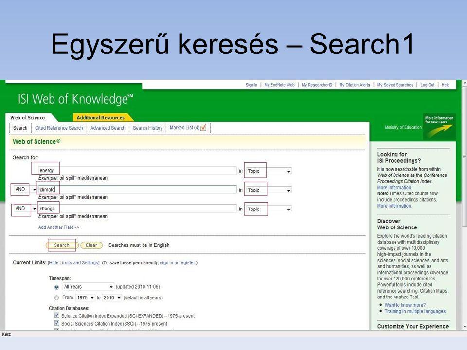 Egyszerű keresés – Search1