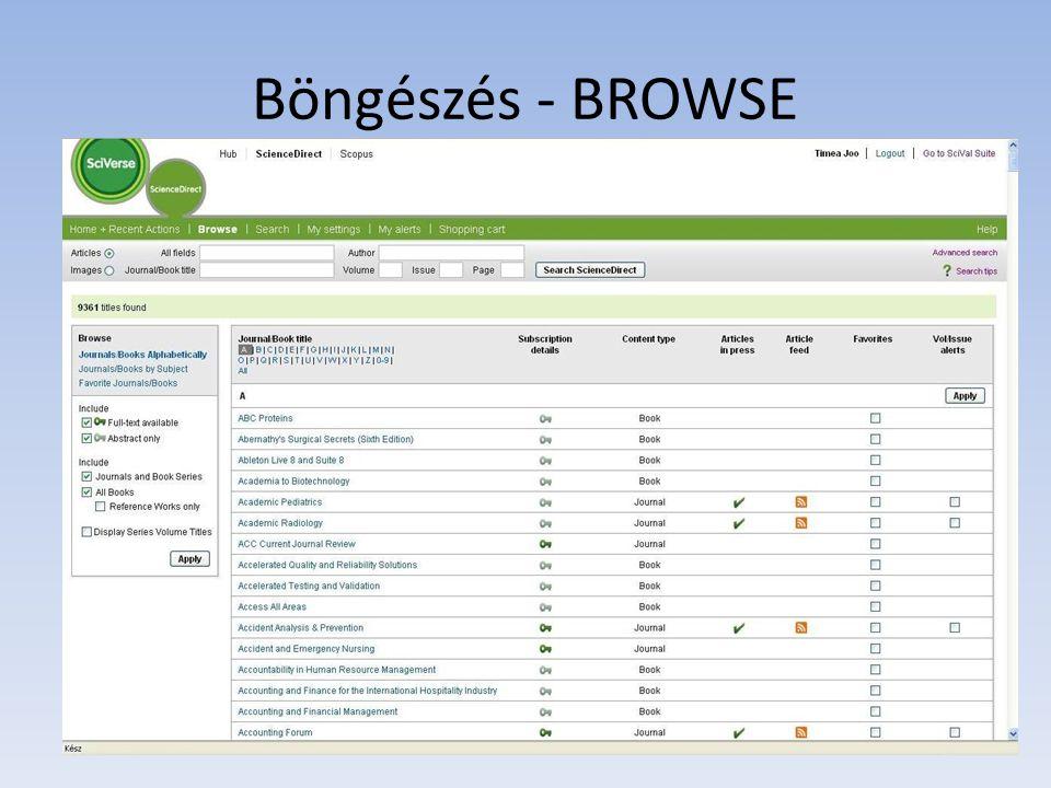 Böngészés - BROWSE