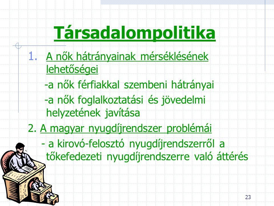 23 Társadalompolitika 1.
