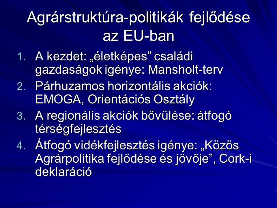 Agrárstruktúra-politikák fejlődése az EU-ban 1.