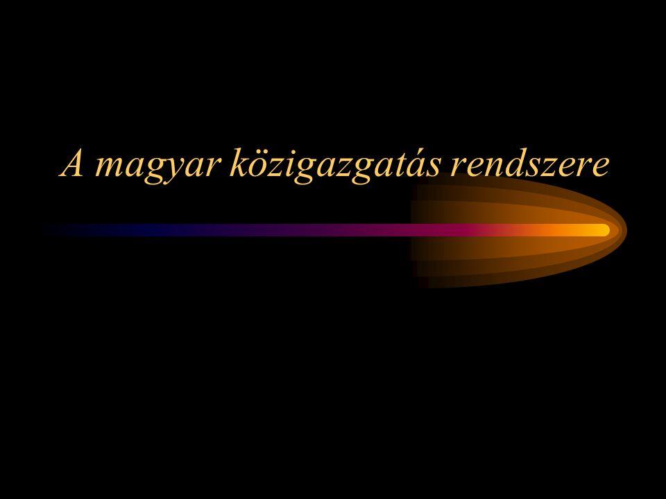 Az államigazgatási alrendszer A közigazgatás alapvető intézménye.