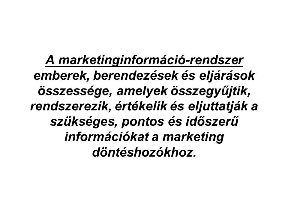 A marketinginformáció-rendszer emberek, berendezések és eljárások összessége, amelyek összegyűjtik, rendszerezik, értékelik és eljuttatják a szükséges