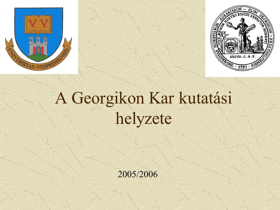 A Georgikon Kar kutatási helyzete 2005/2006