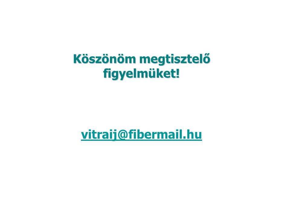 Köszönöm megtisztelő figyelmüket! vitraij@fibermail.hu