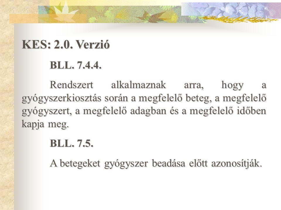 Kórházi Ellátási Standardok KES: 2.0.Verzió (2003.) BFE.