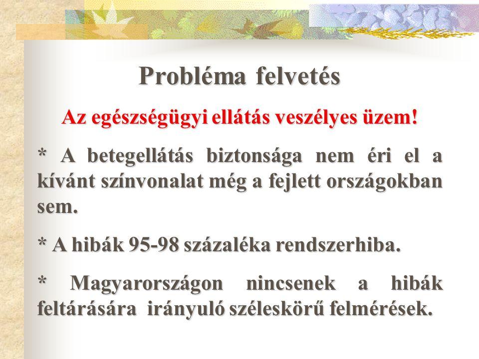 """A betegbiztonság javítására irányuló törekvések a Zala Megyei Kórházban """"Ellátási hibák az egészségügyben Országos Konferencia 2005."""