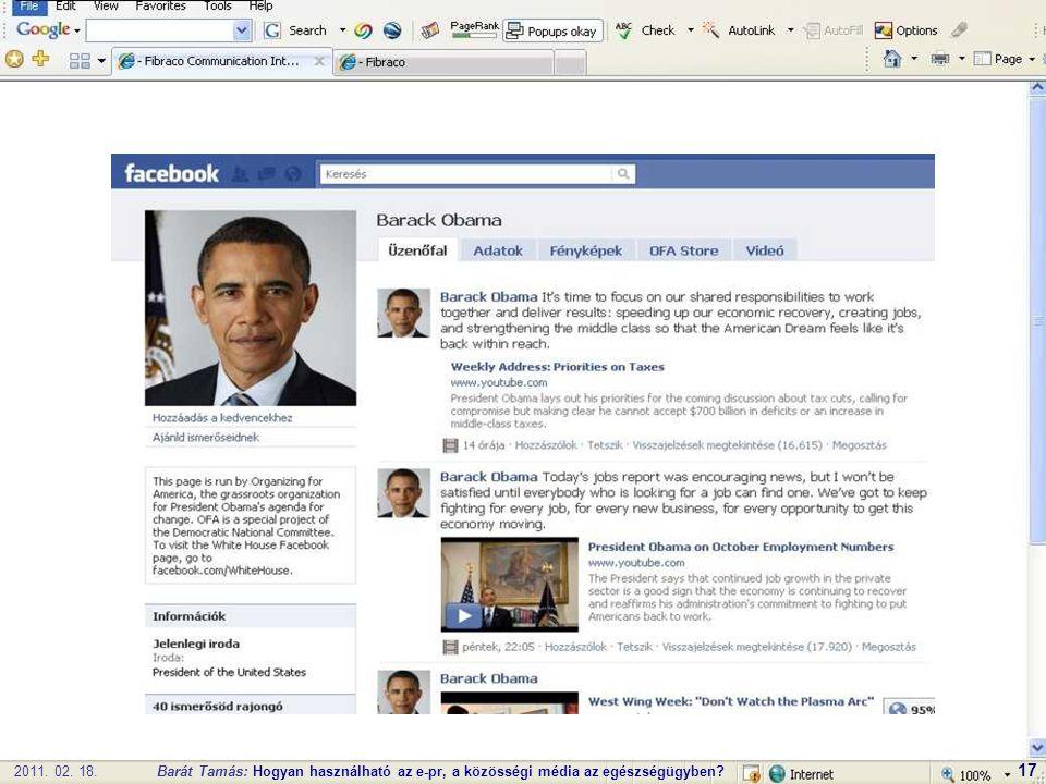 2011. 02. 18.Barát Tamás: Hogyan használható az e-pr, a közösségi média az egészségügyben 17