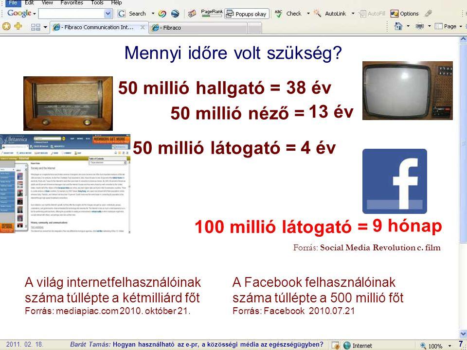 2011. 02. 18.Barát Tamás: Hogyan használható az e-pr, a közösségi média az egészségügyben.