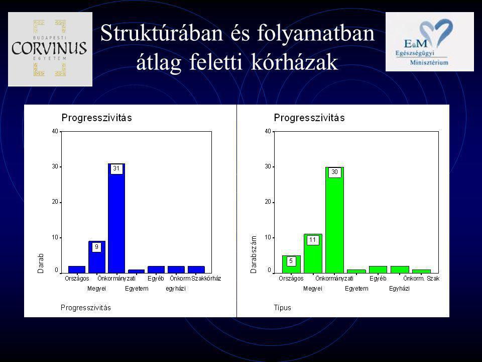 Struktúrában és folyamatban átlag feletti kórházak