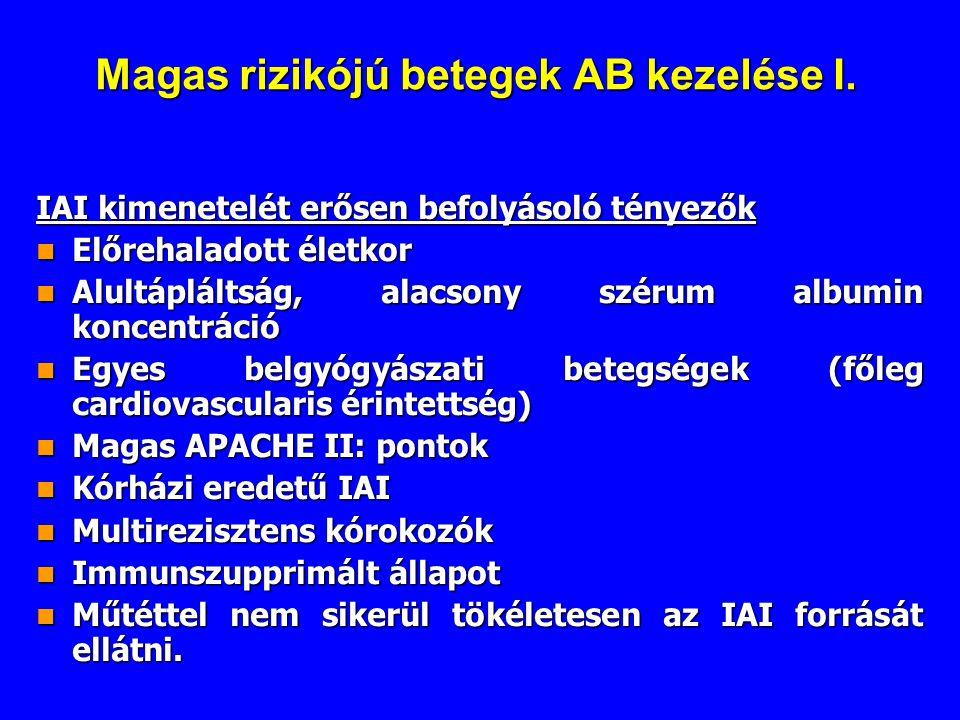 Magas rizikójú betegek AB kezelése I.