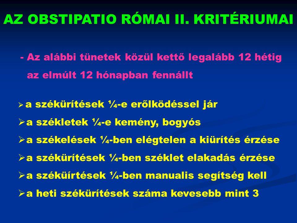 COLORECTALIS MOTILITÁSI ZAVAROK I.1.
