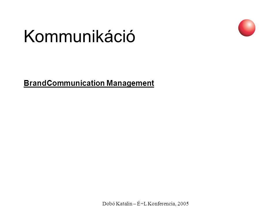 Dobó Katalin – É+L Konferencia, 2005 Kommunikáció BrandCommunication Management