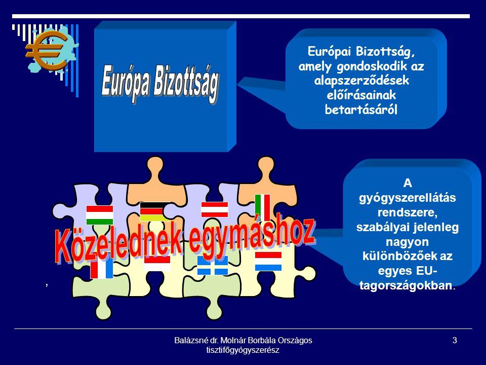 3, Európai Bizottság, amely gondoskodik az alapszerződések előírásainak betartásáról A gyógyszerellátás rendszere, szabályai jelenleg nagyon különbözőek az egyes EU- tagországokban.