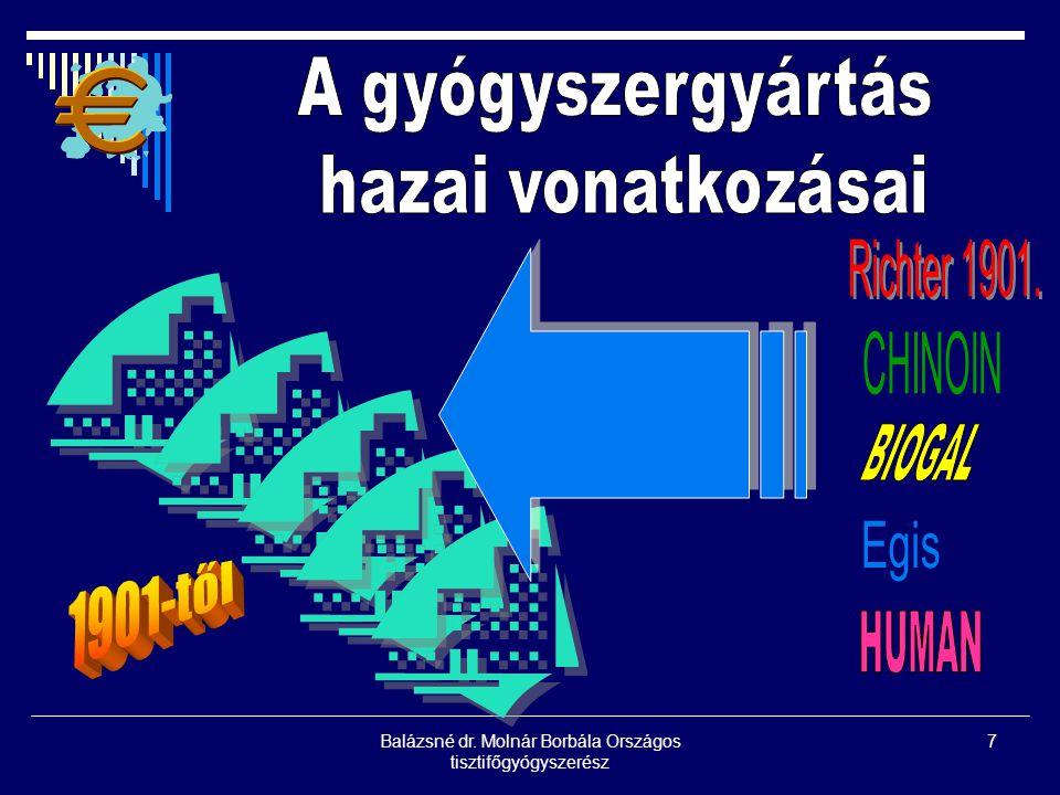 Balázsné dr. Molnár Borbála Országos tisztifőgyógyszerész 7