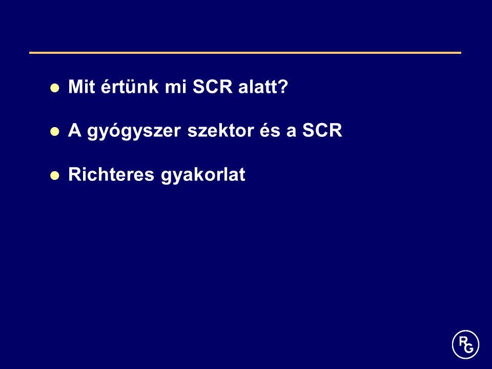 Mit értünk mi SCR alatt? A gyógyszer szektor és a SCR Richteres gyakorlat