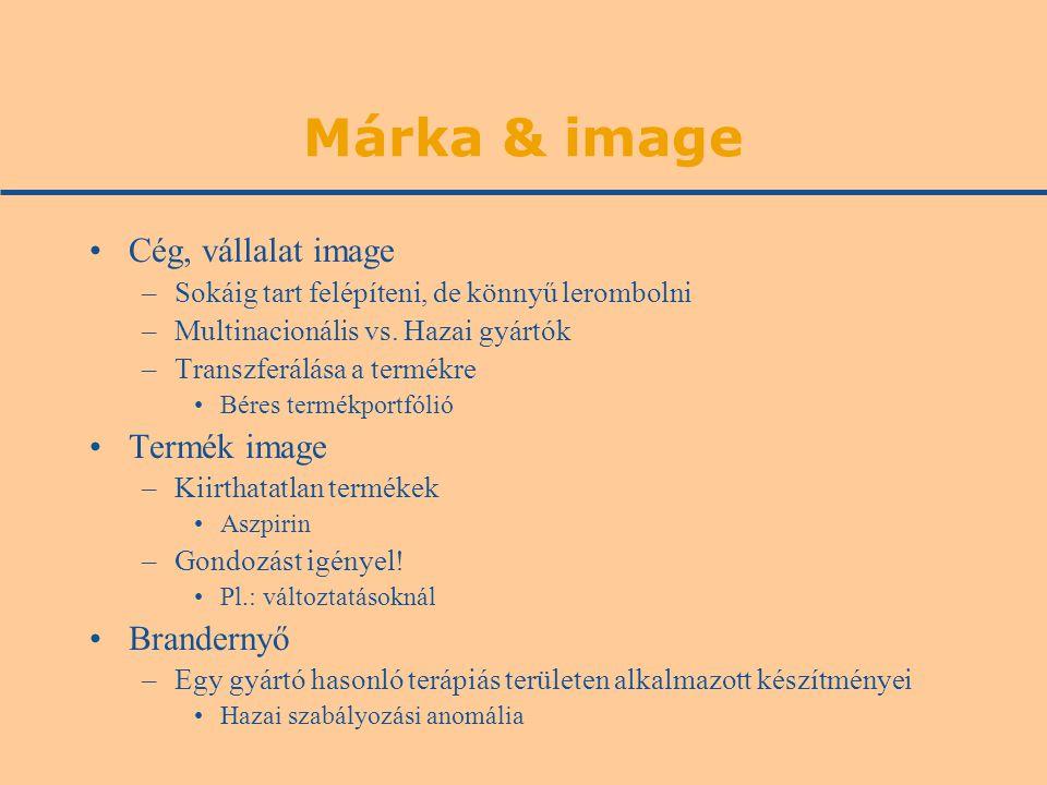 Márka & image Cég, vállalat image –Sokáig tart felépíteni, de könnyű lerombolni –Multinacionális vs.