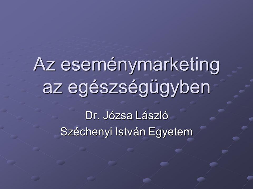 Az eseménymarketing az egészségügyben Dr. Józsa László Széchenyi István Egyetem
