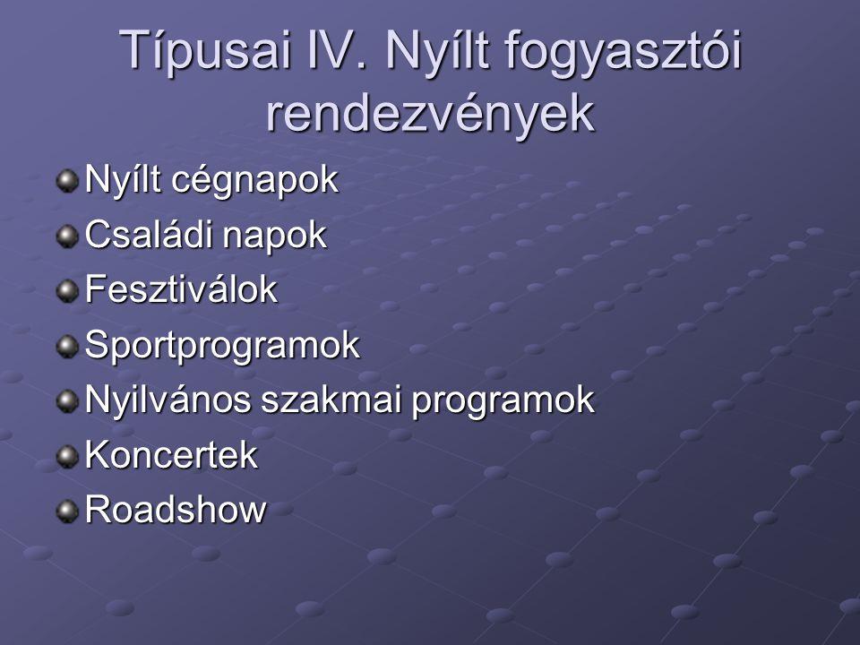 Típusai IV.