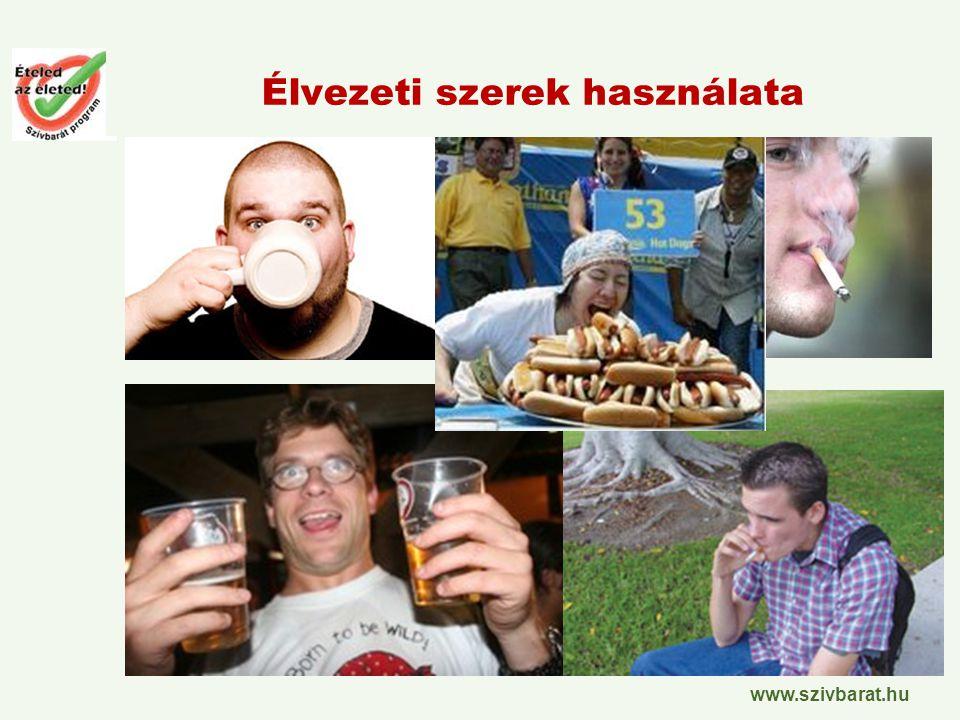 www.szivbarat.hu Élvezeti szerek használata