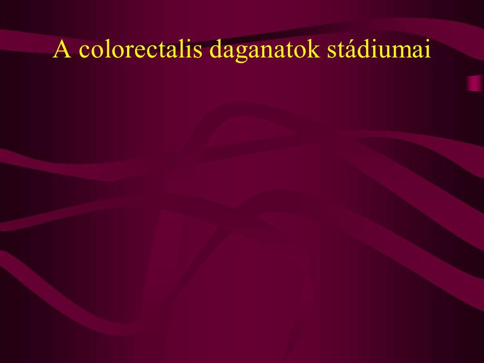 A colorectalis daganatok stádiumai