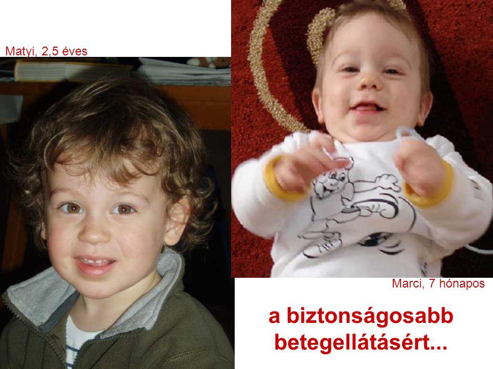 a biztonságosabb betegellátásért... Marci, 7 hónapos Matyi, 2,5 éves