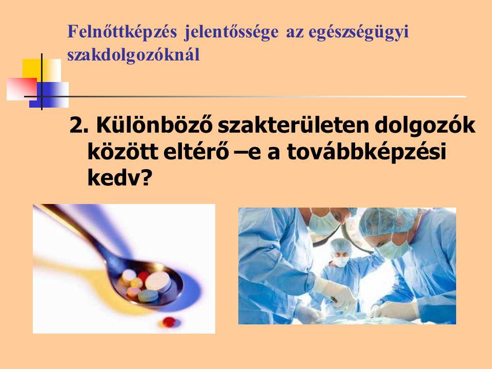 Felnőttképzés jelentőssége az egészségügyi szakdolgozóknál 2.