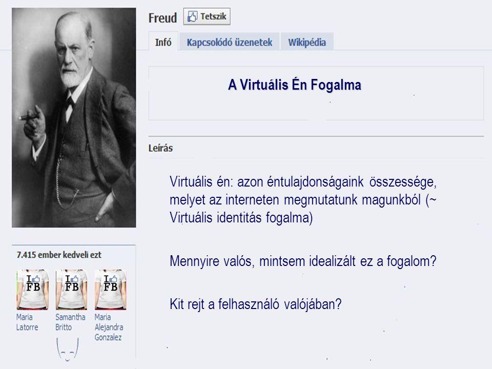 A Virtuális Én fogyasztói vetülete Online én = online kereskedő.