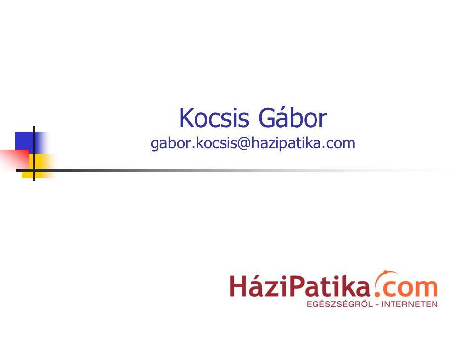 Kocsis Gábor gabor.kocsis@hazipatika.com