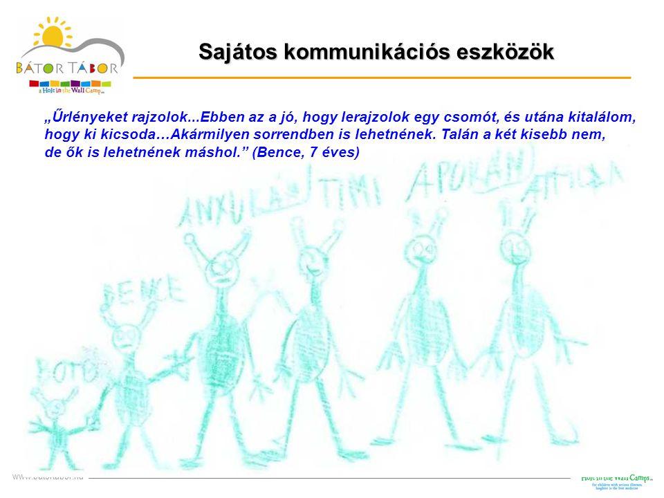 """Sajátos kommunikációs eszközök www.batortabor.hu RAJZ """"Űrlényeket rajzolok...Ebben az a jó, hogy lerajzolok egy csomót, és utána kitalálom, hogy ki ki"""