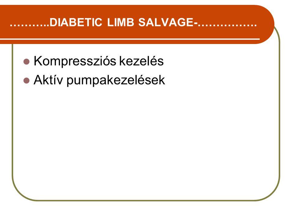 Kompressziós kezelés Aktív pumpakezelések