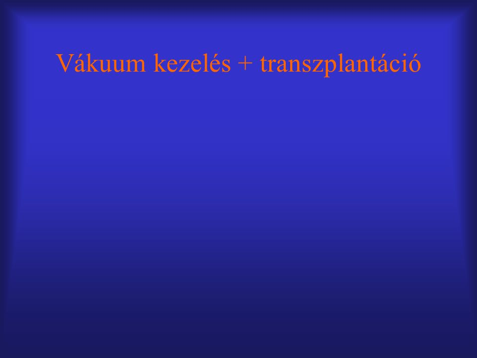 Vákuum kezelés + transzplantáció