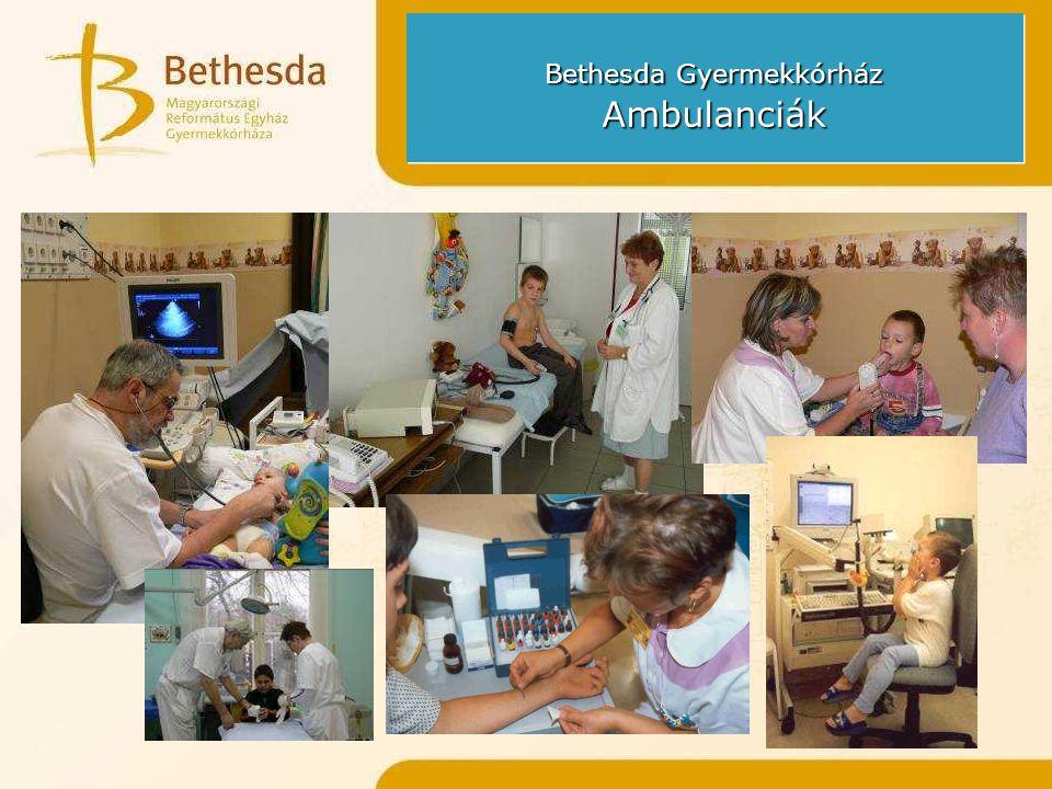 Bethesda Gyermekkórház Ambulanciák