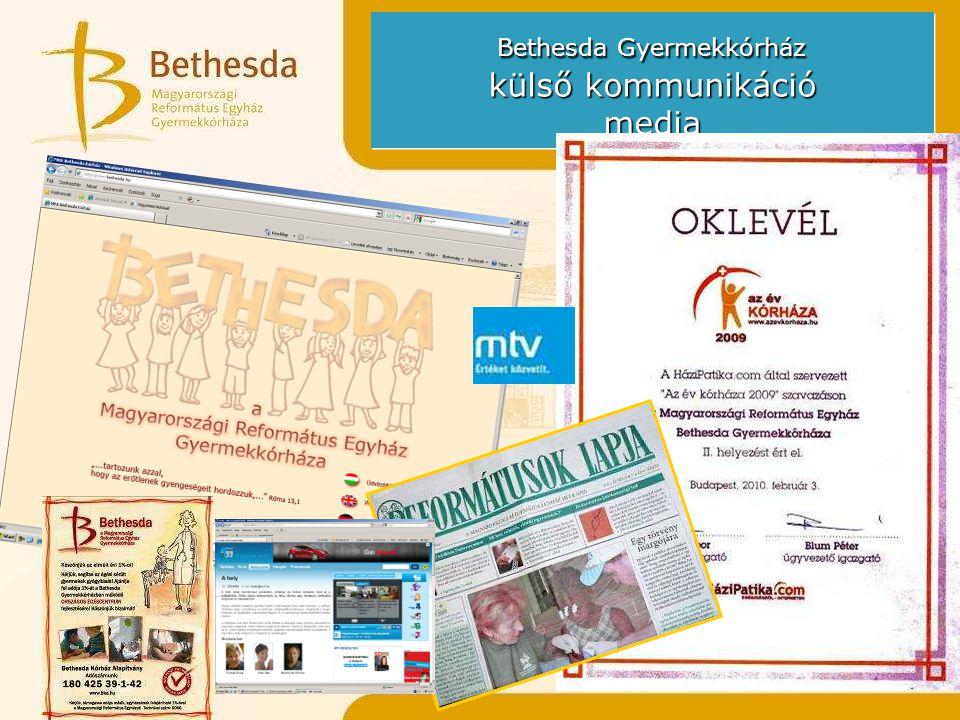 Bethesda Gyermekkórház külső kommunikáció media