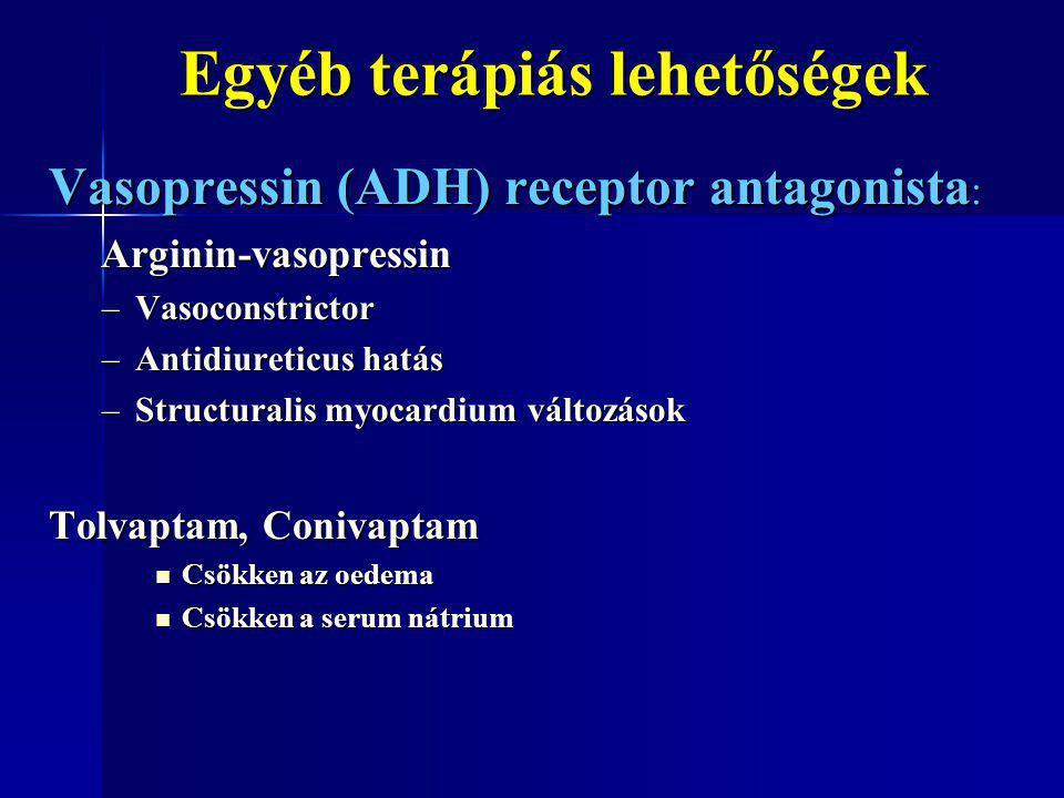Egyéb terápiás lehetőségek Egyéb terápiás lehetőségek Vasopressin (ADH) receptor antagonista : Arginin-vasopressin Arginin-vasopressin –Vasoconstricto