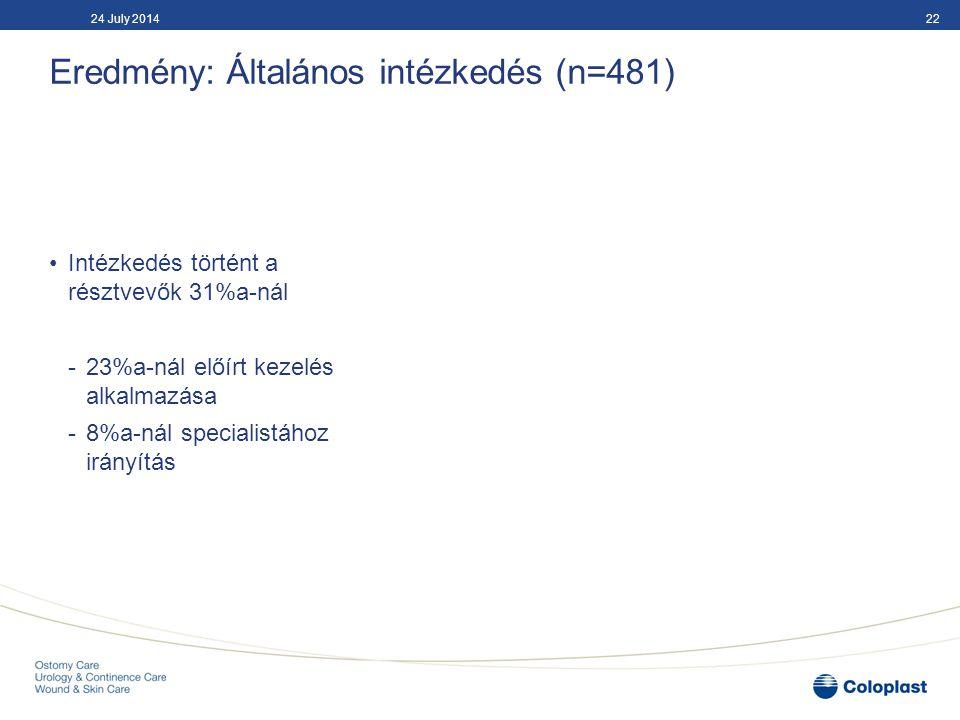 Következtetés Öt fejlesztési igény Magyarországon Szorosabb stomagondozás és odafigyelés Szövődményi rizikó felmérése műtét előtt Betegoktatás szemléltető eszközökkel Nővéri kompetencia fejlesztése Egységes ápolási eljárások alkalmazása