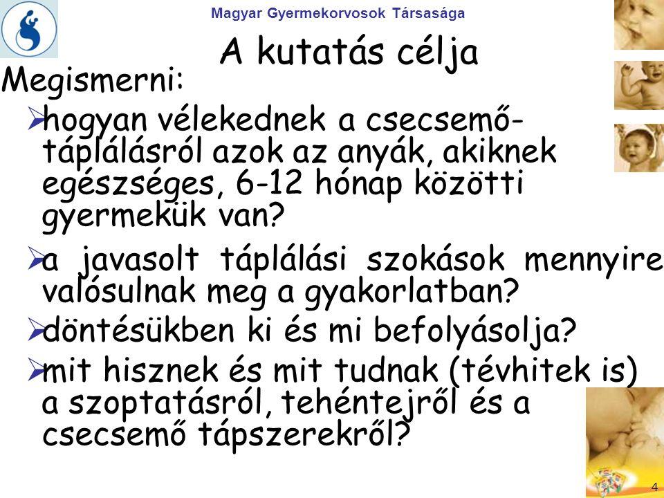 Magyar Gyermekorvosok Társasága Feladat - Tanulság > A tehéntej tilalom nem eléggé ismert.