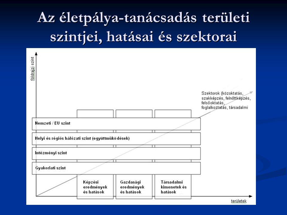 Az életpálya-tanácsadás területi szintjei, hatásai és szektorai