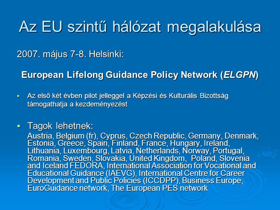 Az EU szintű hálózat megalakulása 2007. május 7-8.
