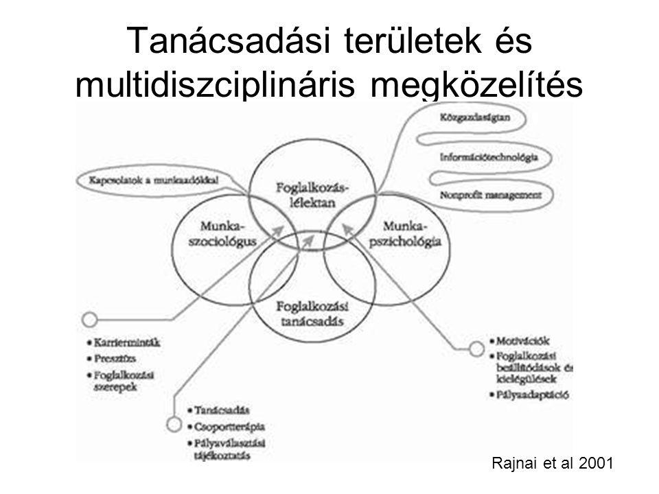 Tanácsadási területek és multidiszciplináris megközelítés Rajnai et al 2001