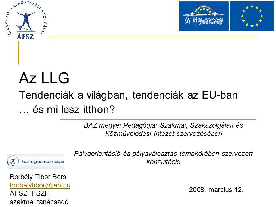 Az LLG Tendenciák a világban, tendenciák az EU-ban … és mi lesz itthon.